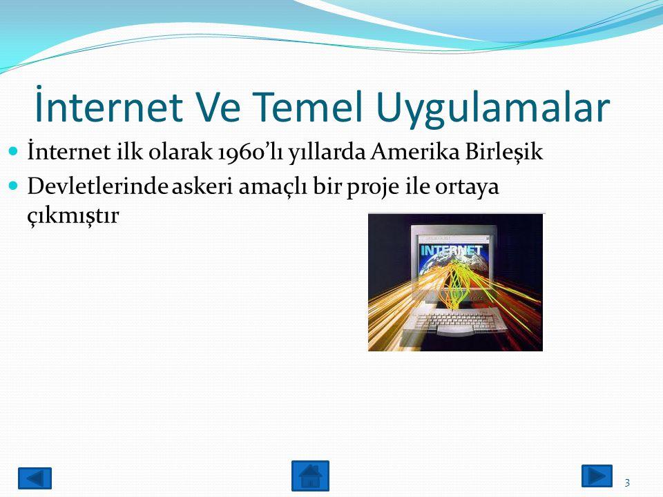 İnternet Nedir? İnternet birçok bilgisayar sisteminin birbirine bağlı olduğu dünya çapında yaygın olan ve sürekli büyüyen bir iletişim ağıdır. 2