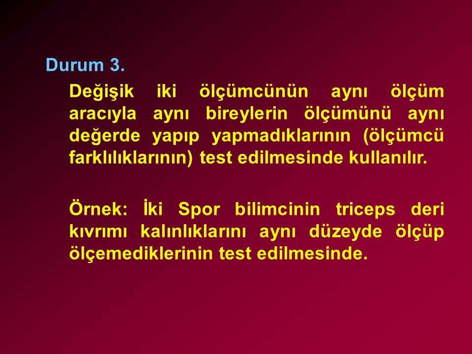 3.Fark dizisinde sıfır değerini alan fark ya da farklar var ise aşağıdaki kurallar uygulanır.