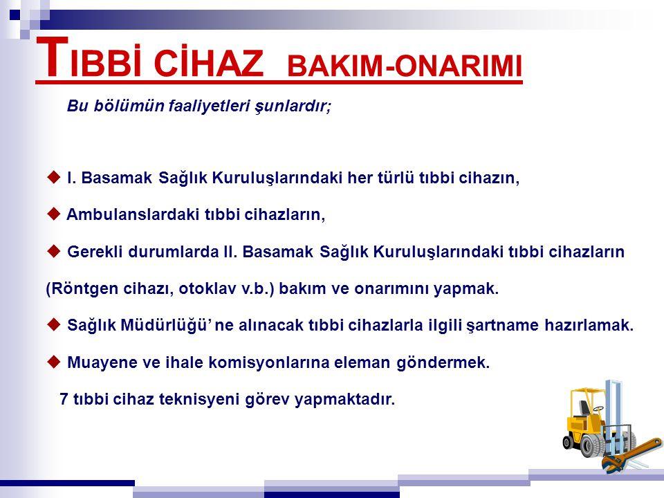 T IBBİ CİHAZ BAKIM-ONARIMI  I.