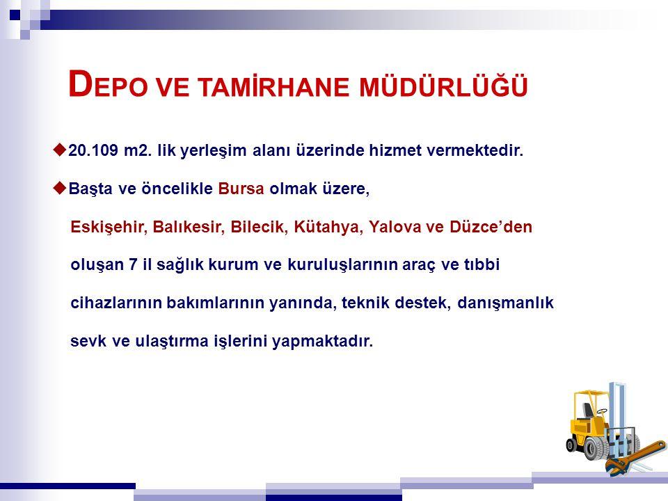  20.109 m2. lik yerleşim alanı üzerinde hizmet vermektedir.  Başta ve öncelikle Bursa olmak üzere, Eskişehir, Balıkesir, Bilecik, Kütahya, Yalova ve