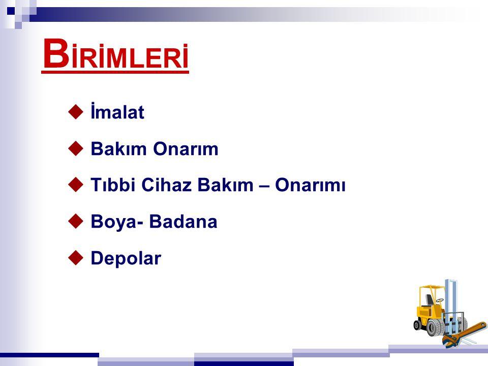 S ARF MALZEMESİ DEPOSU