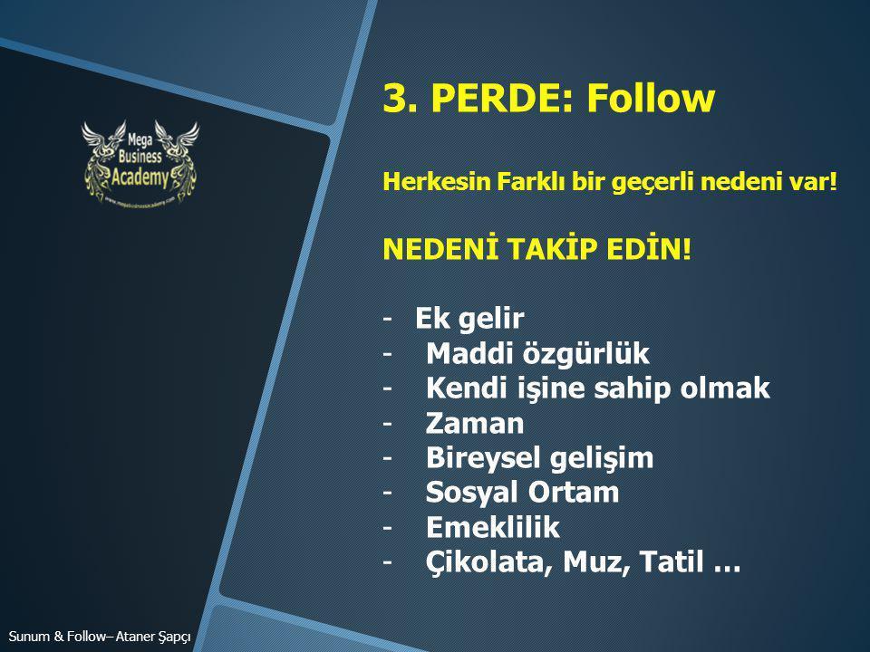 3.PERDE: Follow Herkesin Farklı bir geçerli nedeni var.