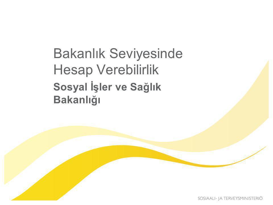 Bakanlık Seviyesinde Hesap Verebilirlik Sosyal İşler ve Sağlık Bakanlığı