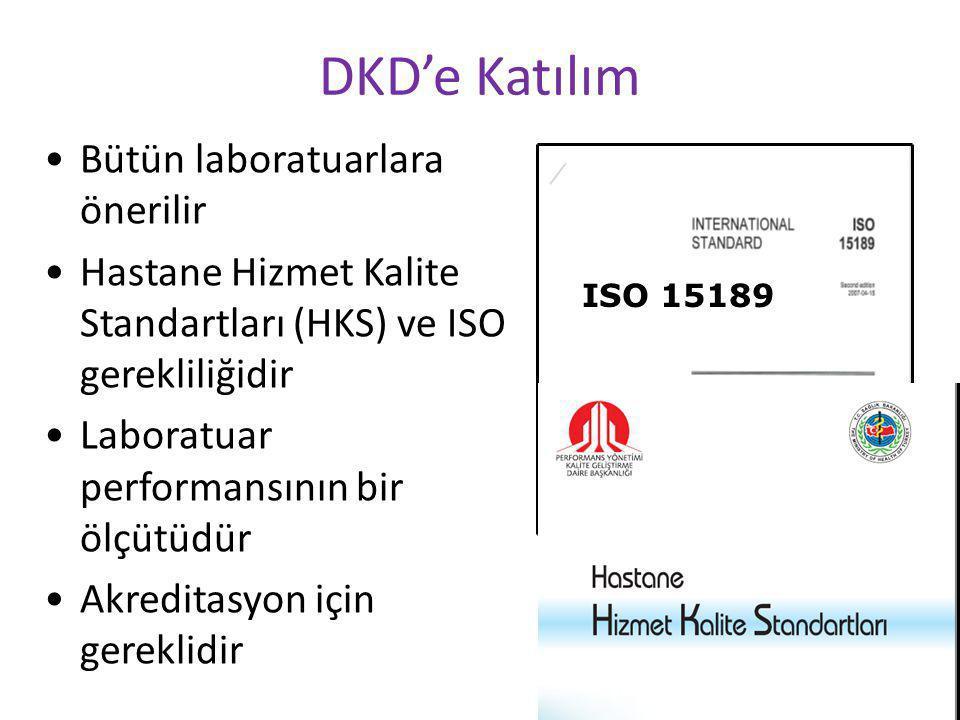 26 DKD'e Katılım Bütün laboratuarlara önerilir Hastane Hizmet Kalite Standartları (HKS) ve ISO gerekliliğidir Laboratuar performansının bir ölçütüdür Akreditasyon için gereklidir ISO 15189
