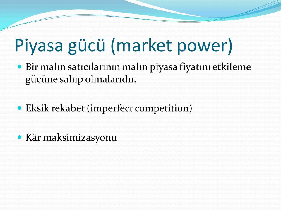Dışsallıklar (externalities) Bir malın üretiminin ve tüketiminin o malın satıcıları ve alıcıları dışındaki üçüncü kişilere bir maliyet yüklemesine veya bir yarar sağlamasına dışsallıklar (externalities) denir.