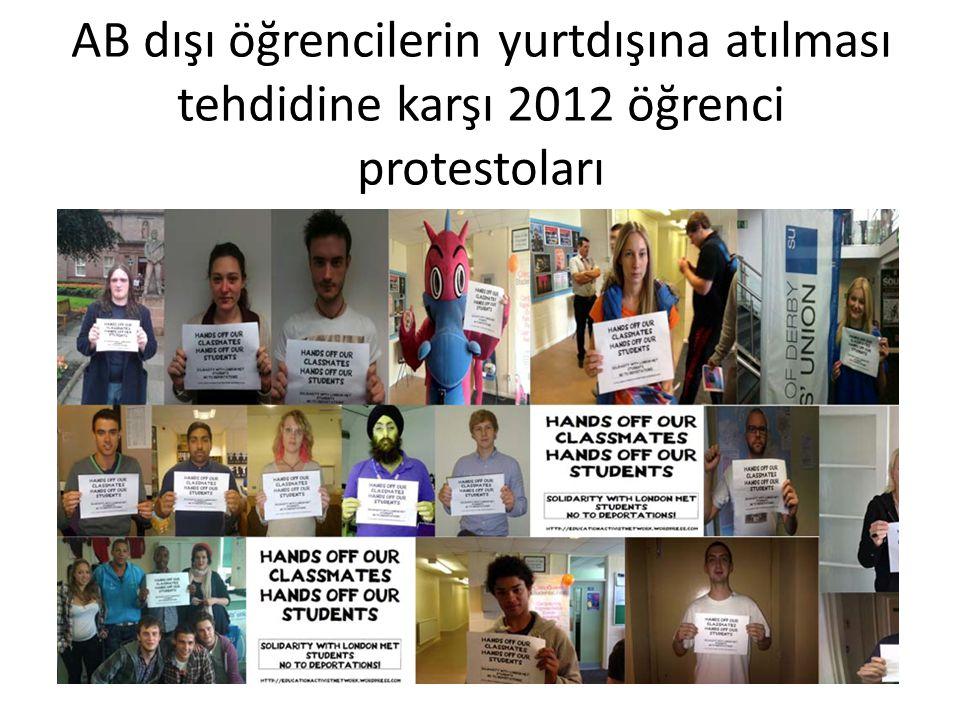 AB dışı öğrencilerin yurtdışına atılması tehdidine karşı 2012 öğrenci protestoları