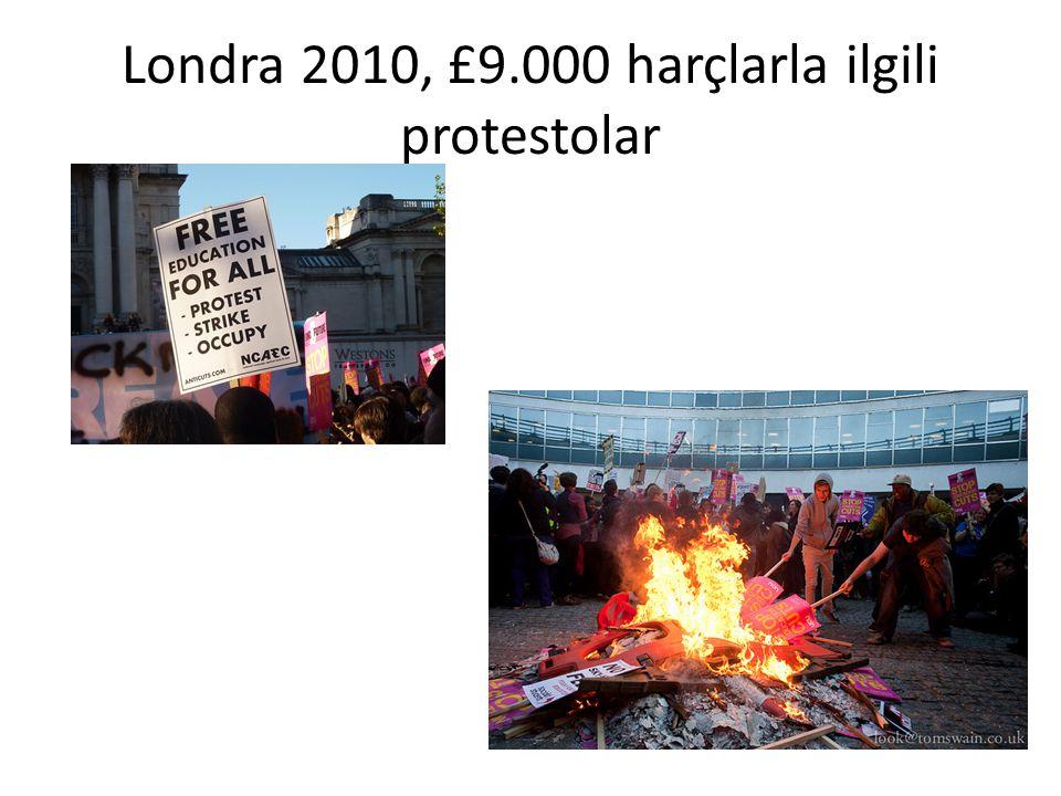 Londra 2010, £9.000 harçlarla ilgili protestolar