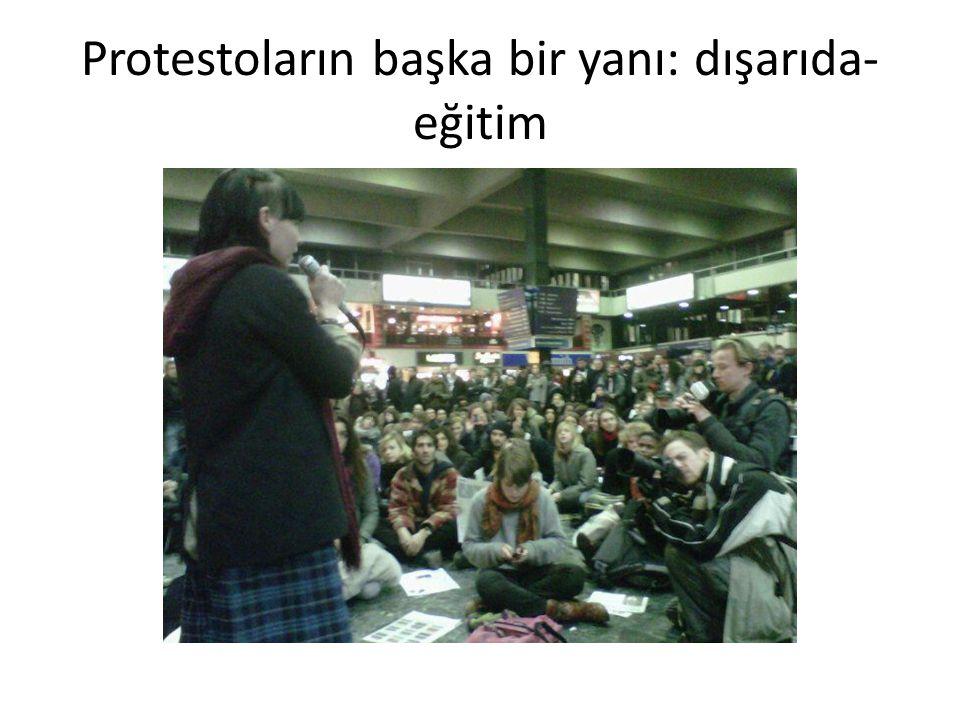 Protestoların başka bir yanı: dışarıda- eğitim