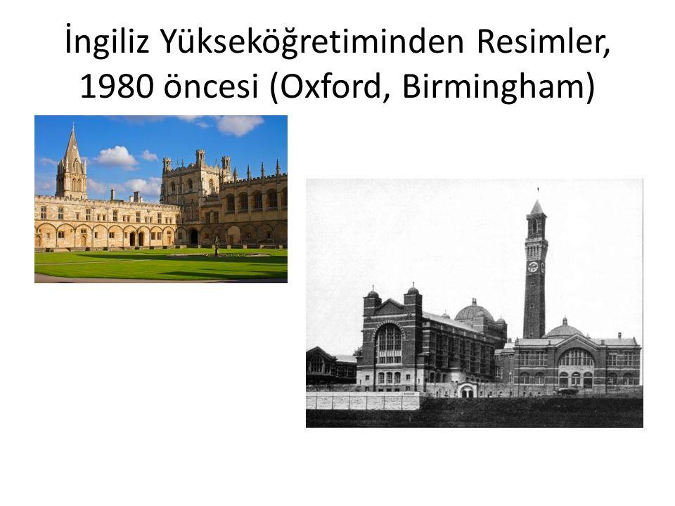 İngiliz Yükseköğretiminden Resimler, 1980 öncesi (Oxford, Birmingham)
