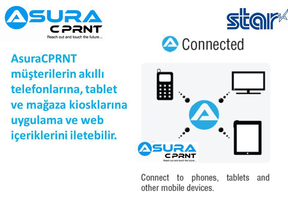 AsuraCPRNT müşterilerin akıllı telefonlarına, tablet ve mağaza kiosklarına uygulama ve web içeriklerini iletebilir.
