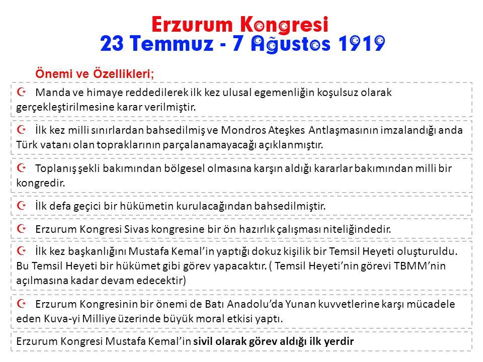 Erzurum Kongresi'ne katılan delegeler. Ortada Mustafa Kemal