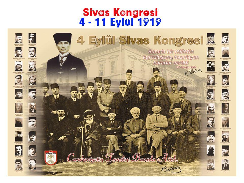 Erzurum Kongresinden sonra Sivas Kongresinin toplanması ile ilgili çalışmalara devam edildi. Bununla beraber İstanbul Hükümeti ve işgal kuvvetleri de