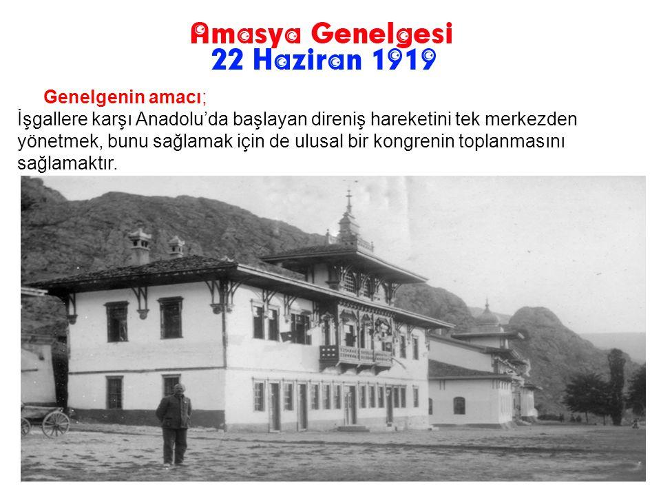 Amasya Genelgesi, Mustafa Kemal tarafından hazırlanmıştır. Mustafa Kemal, genelgenin halkın gözündeki önemin artırmak ve İstanbul basınının kendisi al