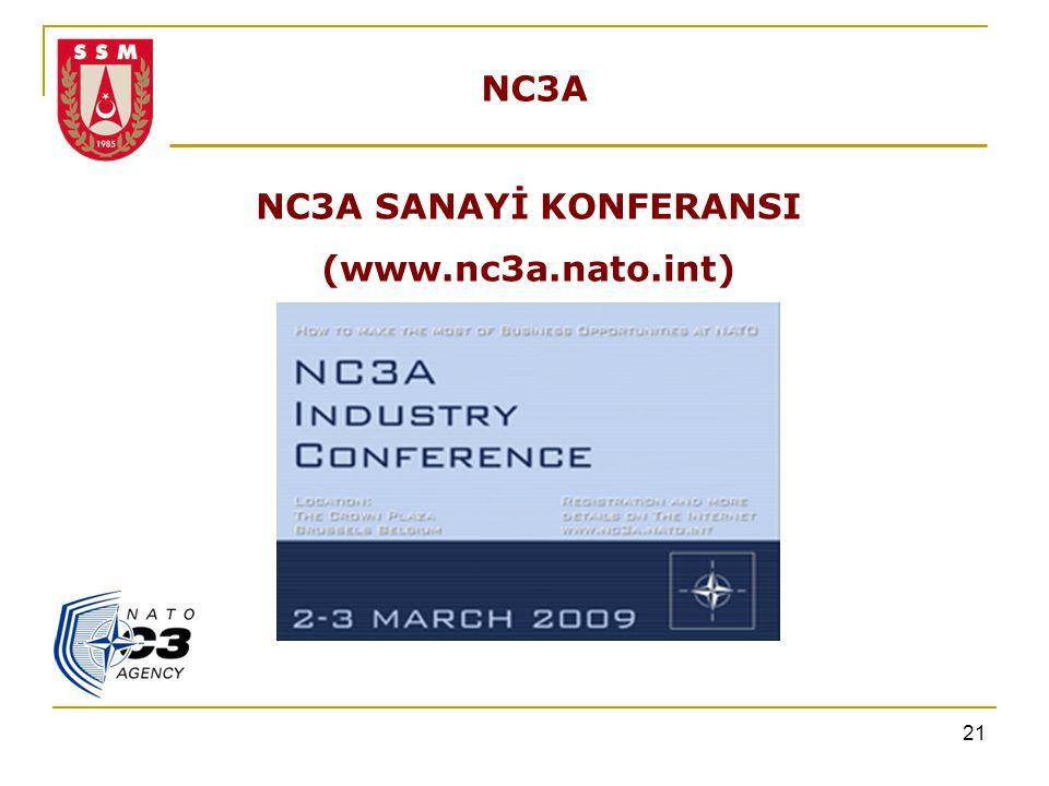 21 NC3A NC3A SANAYİ KONFERANSI (www.nc3a.nato.int)