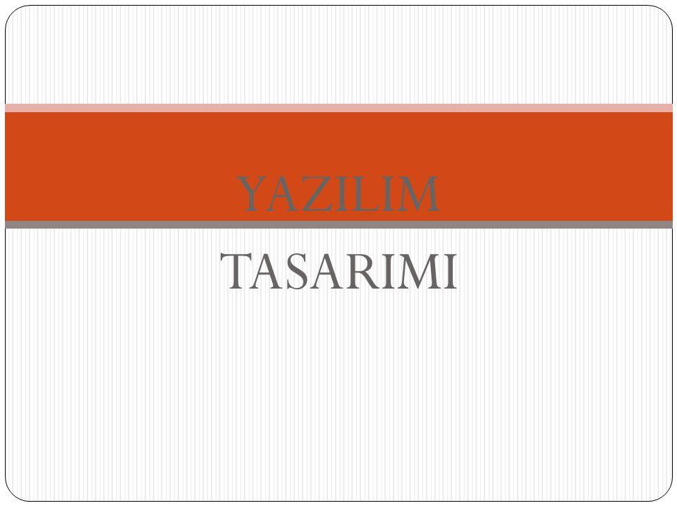 YAZILIM TASARIMI