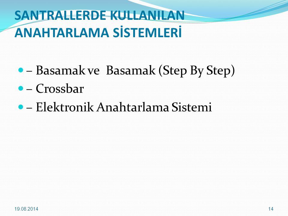 SANTRALLERDE KULLANILAN ANAHTARLAMA SİSTEMLERİ – Basamak ve Basamak (Step By Step) – Crossbar – Elektronik Anahtarlama Sistemi 19.08.201414