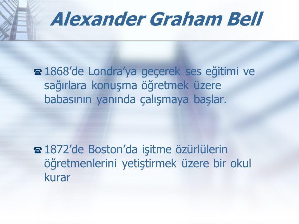  1868'de Londra'ya geçerek ses eğitimi ve sağırlara konuşma öğretmek üzere babasının yanında çalışmaya başlar.  1872'de Boston'da işitme özürlülerin