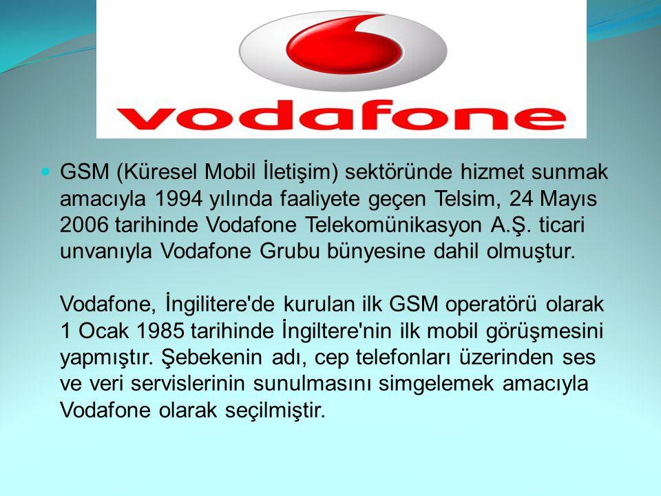 GSM (Küresel Mobil İletişim) sektöründe hizmet sunmak amacıyla 1994 yılında faaliyete geçen Telsim, 24 Mayıs 2006 tarihinde Vodafone Telekomünikasyon