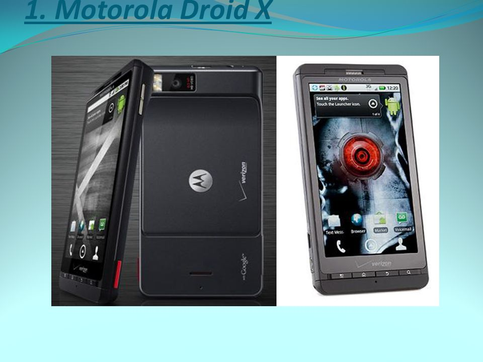 1. Motorola Droid X