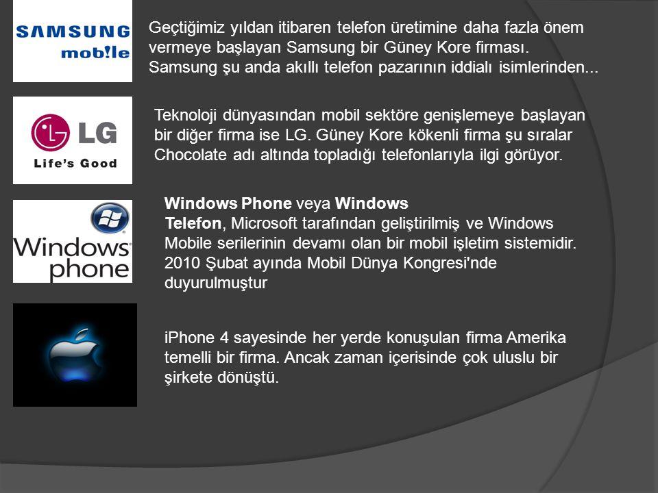 Geçtiğimiz yıldan itibaren telefon üretimine daha fazla önem vermeye başlayan Samsung bir Güney Kore firması. Samsung şu anda akıllı telefon pazarının