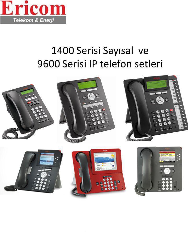 1400 Serisi Sayısal ve 9600 Serisi IP telefon setleri 5402