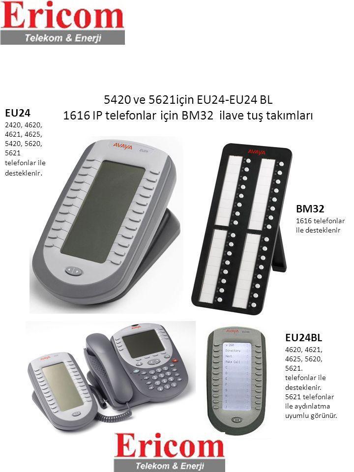5420 ve 5621için EU24-EU24 BL 1616 IP telefonlar için BM32 ilave tuş takımları EU24 2420, 4620, 4621, 4625, 5420, 5620, 5621 telefonlar ile destekleni