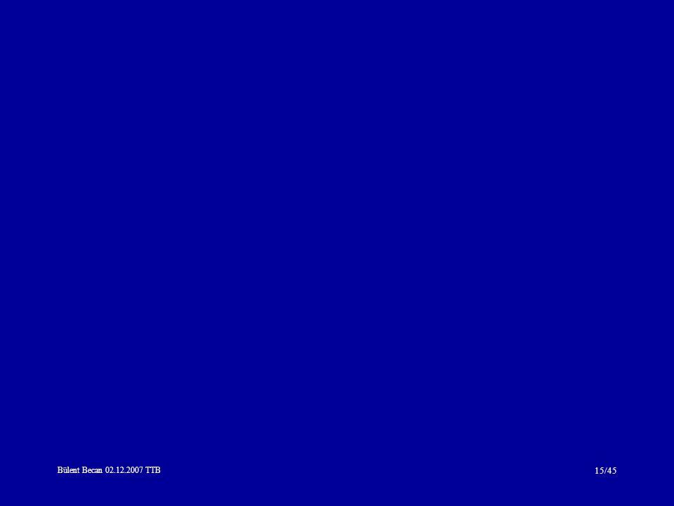 Bülent Becan 02.12.2007 TTB 15/45