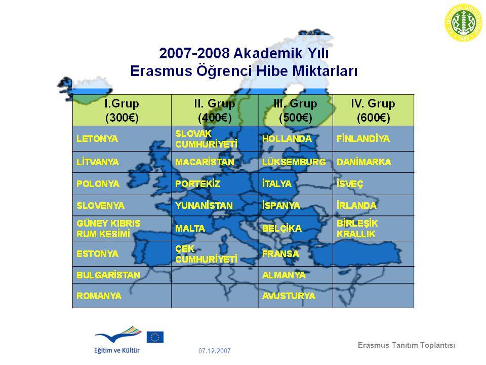 07.12.2007 Erasmus Tanıtım Toplantısı