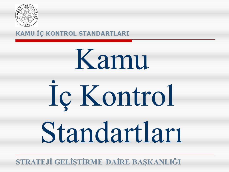 KAMU İÇ KONTROL STANDARTLARI STRATEJİ GELİŞTİRME DAİRE BAŞKANLIĞI Kamu İç Kontrol Standartları