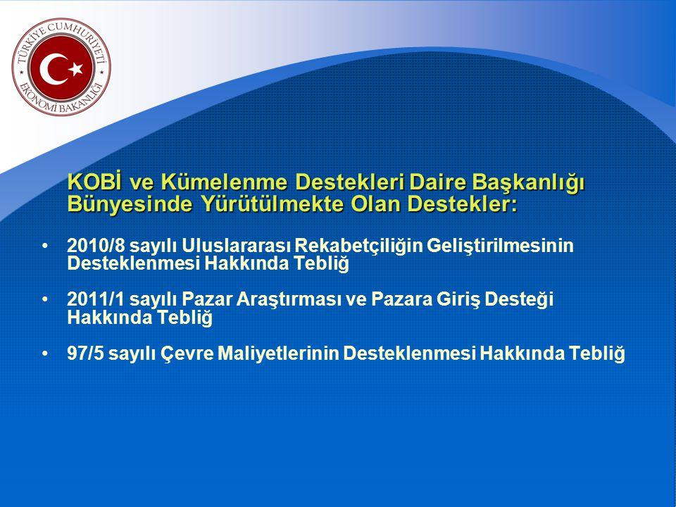 2010/8 SAYILI ULUSLARARASI REKABETÇİLİĞİN GELİŞTİRİLMESİ DESTEĞİ