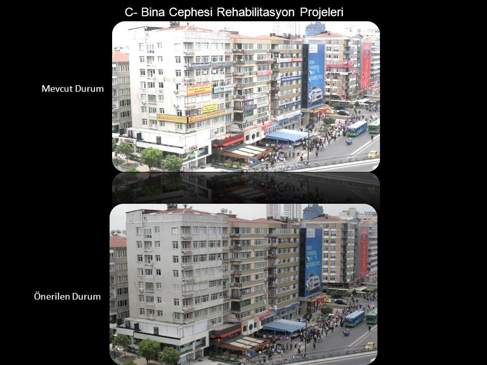 C- Bina Cephesi Rehabilitasyon Projeleri Mevcut Durum Önerilen Durum