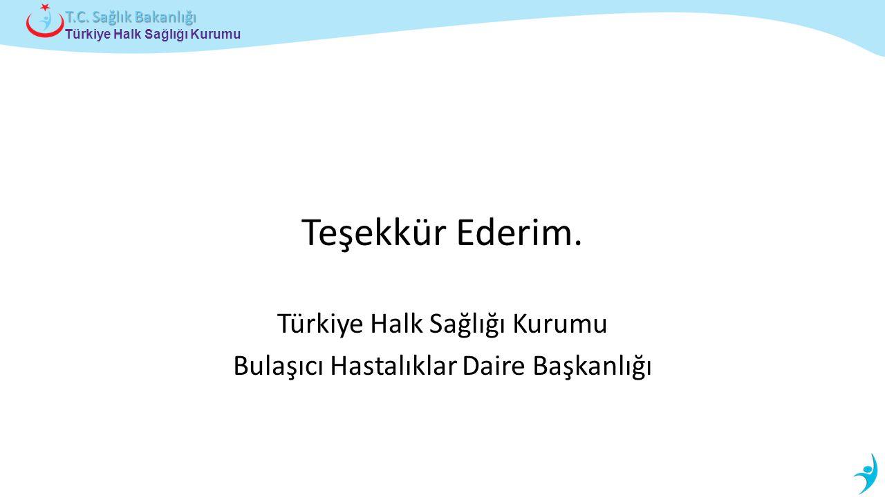 Türkiye Halk Sağlığı Kurumu T.C. Sağlık Bakanlığı Teşekkür Ederim. Türkiye Halk Sağlığı Kurumu Bulaşıcı Hastalıklar Daire Başkanlığı
