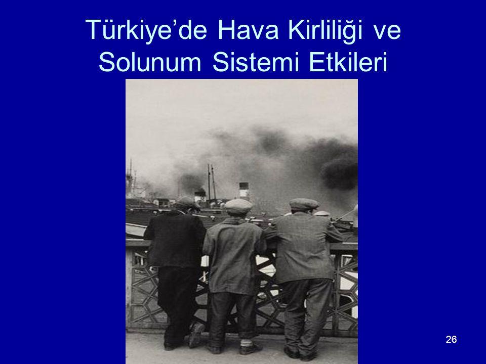 26 Türkiye'de Hava Kirliliği ve Solunum Sistemi Etkileri