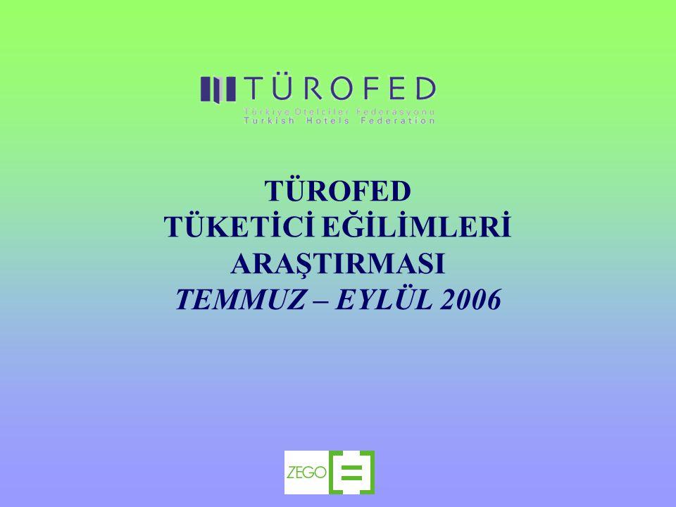TÜROFED TÜKETİCİ EĞİLİMLERİ ARAŞTIRMASI TEMMUZ – EYLÜL 2006