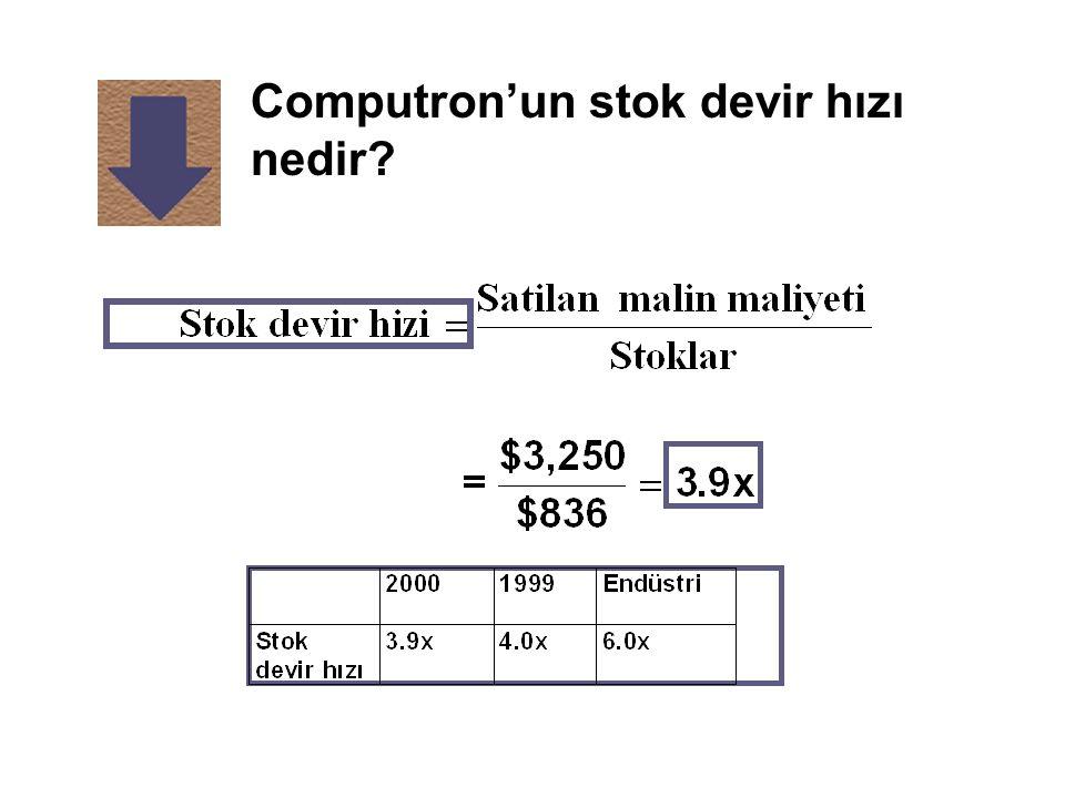 Computron'un stok devir hızı nedir?