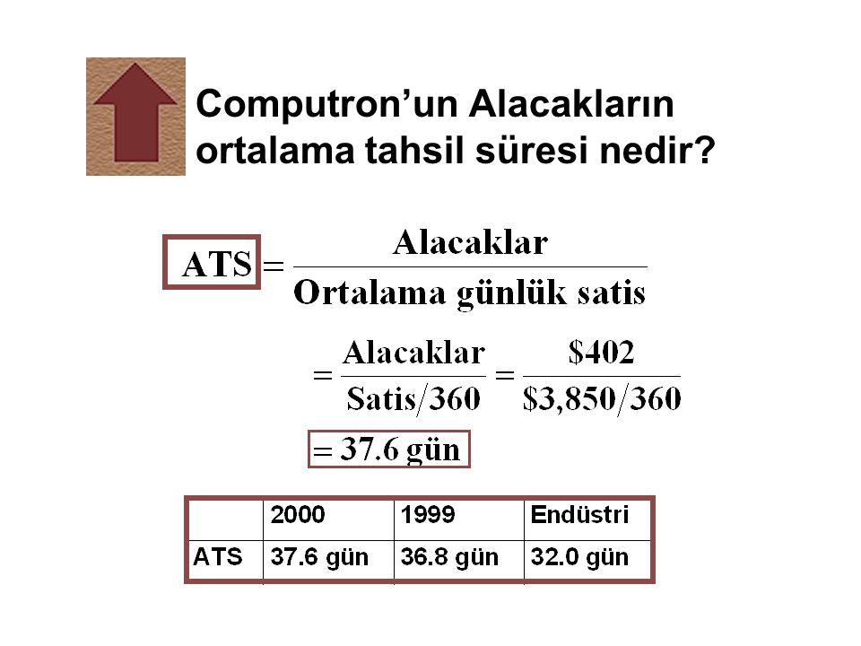 Computron'un Alacakların ortalama tahsil süresi nedir?
