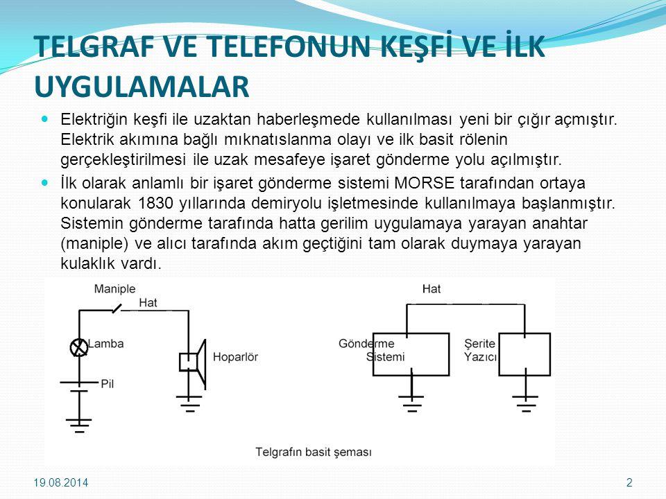 TELGRAF VE TELEFONUN KEŞFİ VE İLK UYGULAMALAR Elektriğin keşfi ile uzaktan haberleşmede kullanılması yeni bir çığır açmıştır.