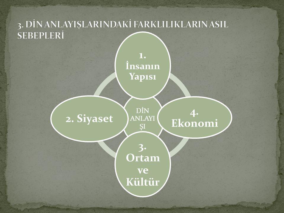 1.İnsanın Yapısı: İnsanların ruhları da, ruh dünyaları da çok daha farklıdır.
