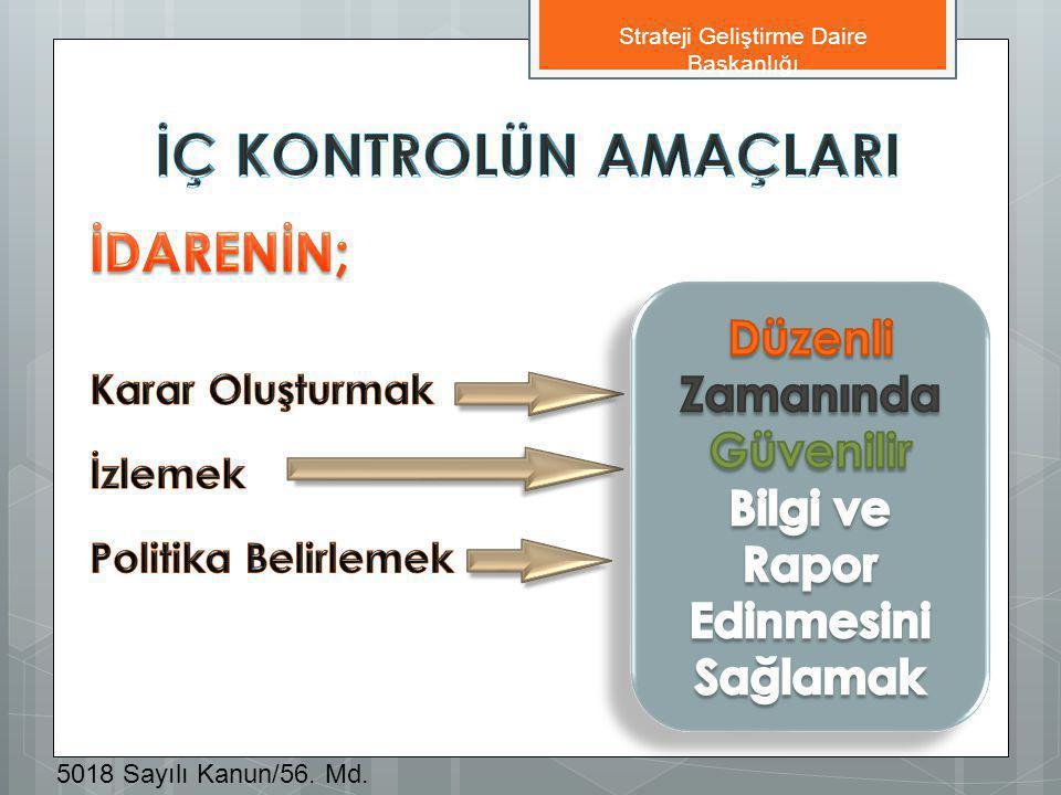 Strateji Geliştirme Daire Başkanlığı 5018 Sayılı Kanun/56. Md.