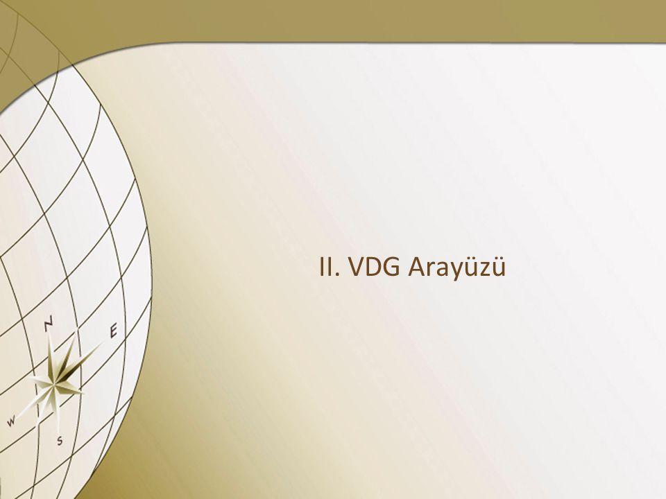 II. VDG Arayüzü