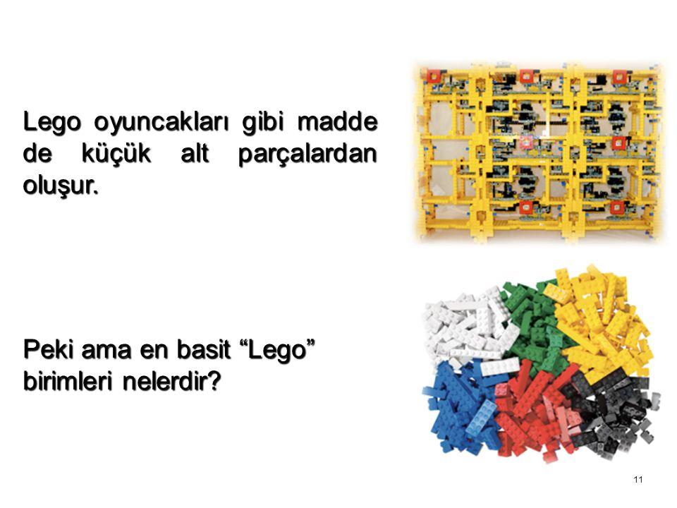 """11 Lego oyuncakları gibi madde de küçük alt parçalardan oluşur. Peki ama en basit """"Lego"""" birimleri nelerdir?"""