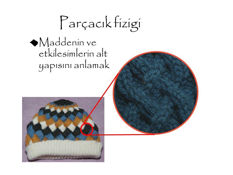 Parçacık fizigi Maddenin ve etkilesimlerin alt yapısını anlamak
