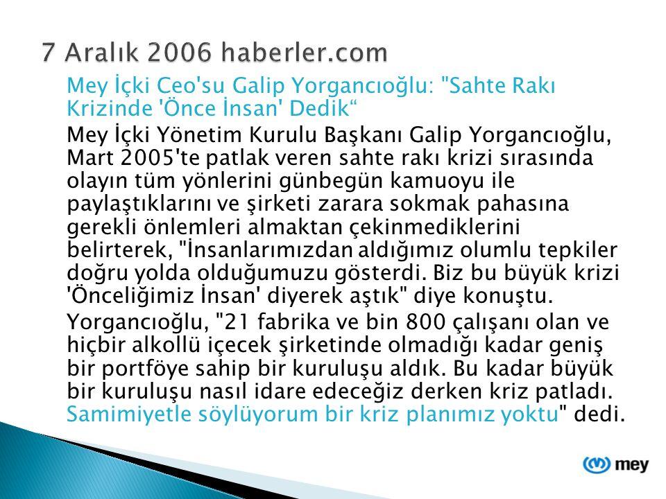 Mey İçki Ceo'su Galip Yorgancıoğlu: