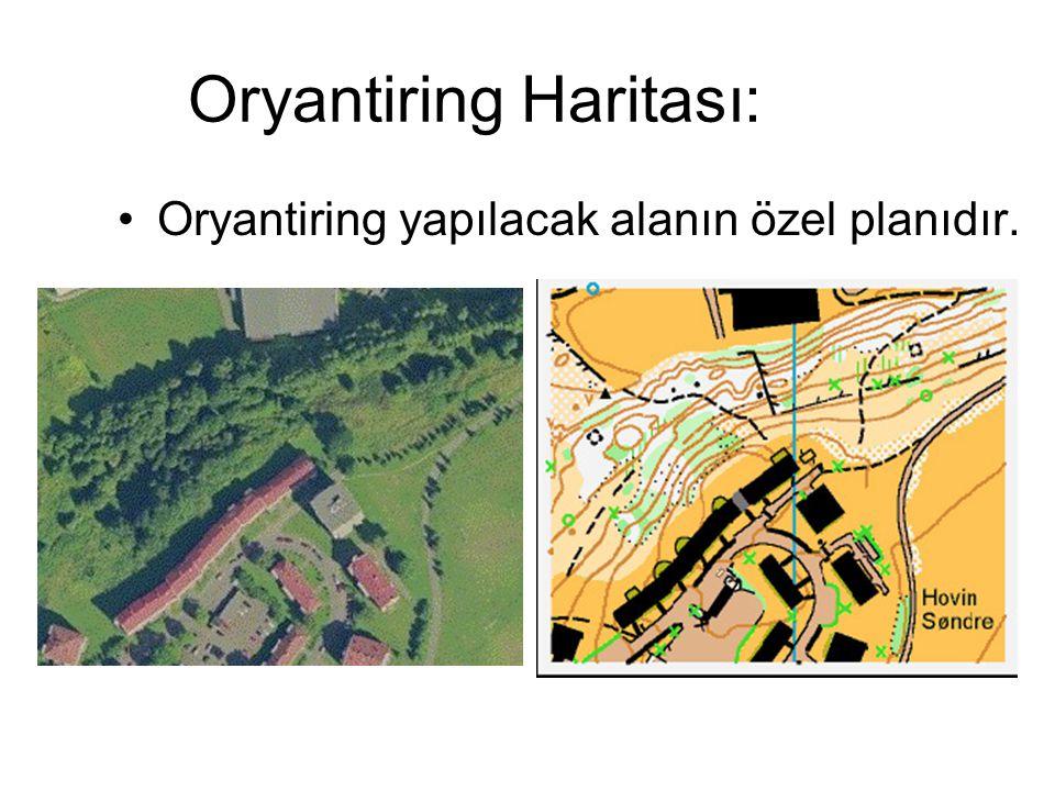 Oryantiring Haritası: Oryantiring yapılacak alanın özel planıdır.