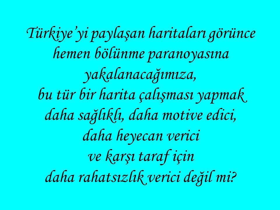 Türkiye haritasının rengi, adını Türkler den alan Turkuaz rengidir.