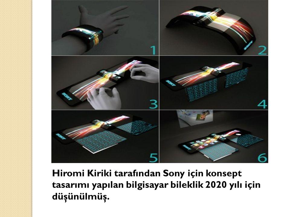 Hiromi Kiriki tarafından Sony için konsept tasarımı yapılan bilgisayar bileklik 2020 yılı için düşünülmüş.