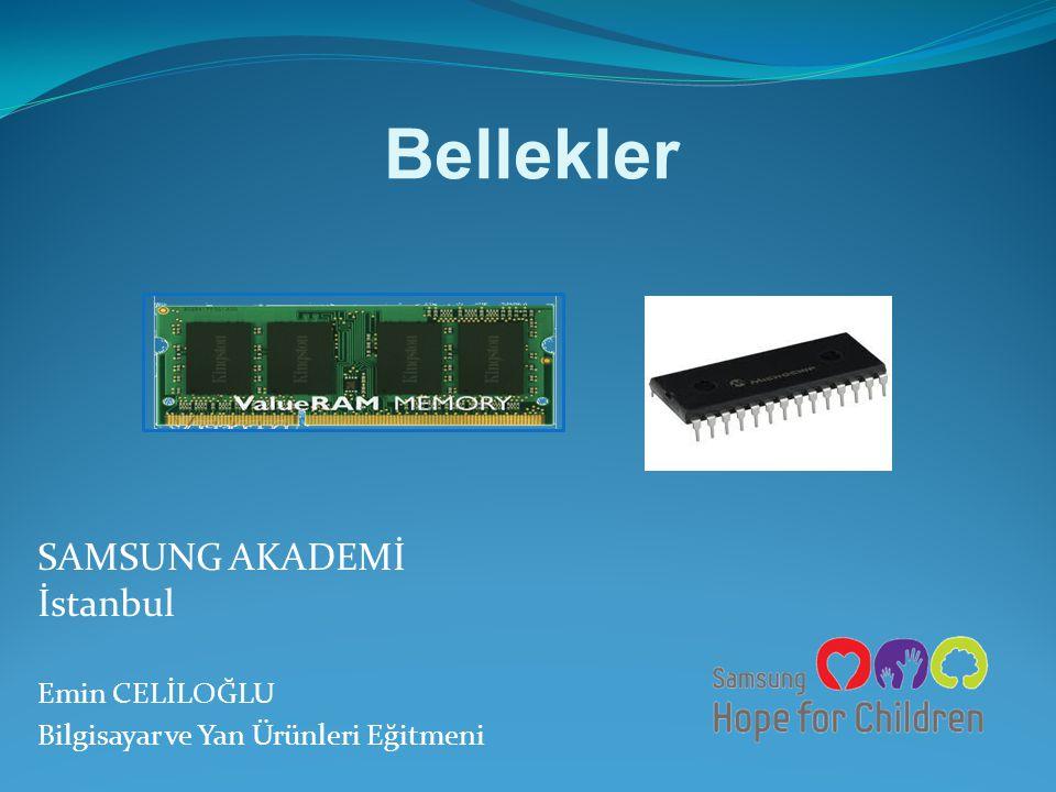 EMİN CELİLOĞLU - IT Eğitmeni SRAM: Statik RAM'ler daha yüksek hıza karşın daha yüksek maliyetlidir ve daha büyük mimari bir yapı kullanır.