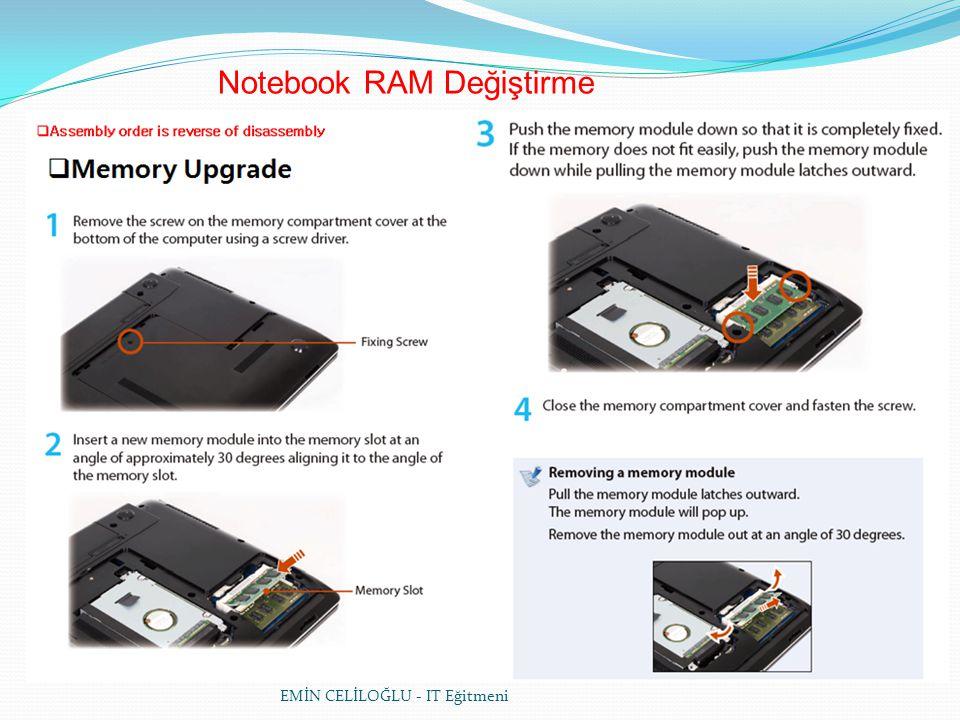 EMİN CELİLOĞLU - IT Eğitmeni Notebook RAM Değiştirme