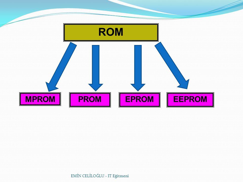 EMİN CELİLOĞLU - IT Eğitmeni SO DIMM'ler Genellikle notebook bilgisayarlarda kullanılan bellek tipine Small Outline DIMM yada kısaca SO DIMM adı verilir.