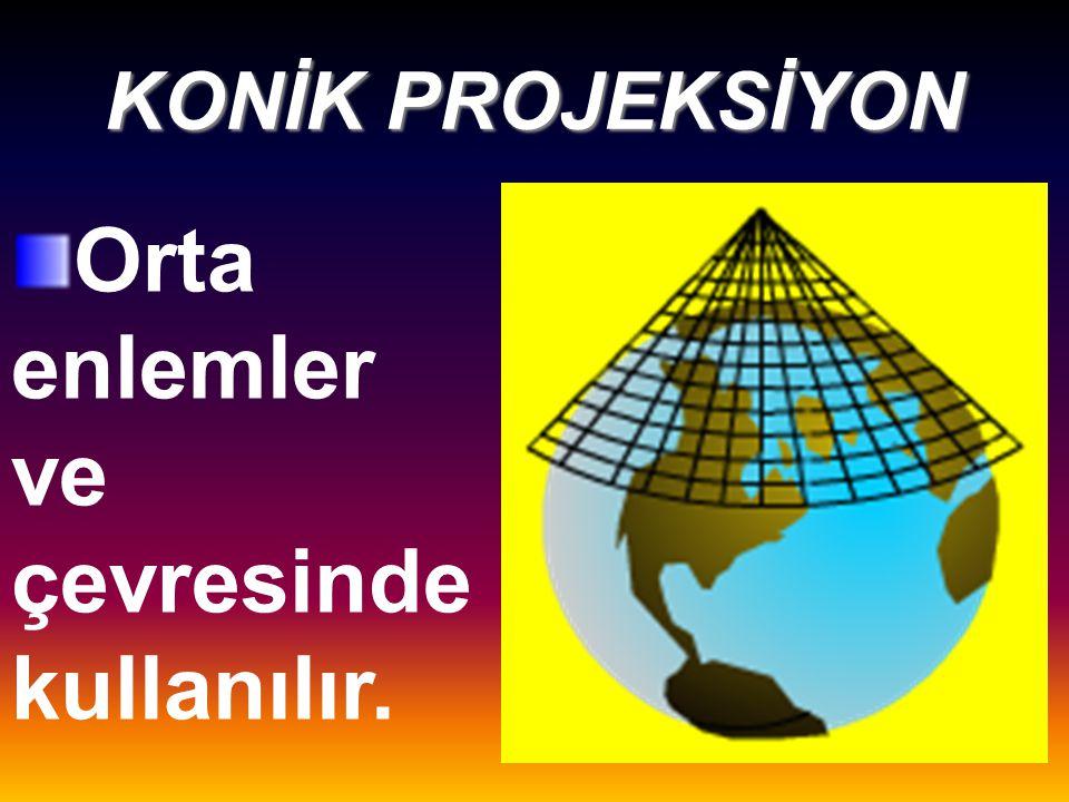 Ekvator ve çevresinde kullanılır.